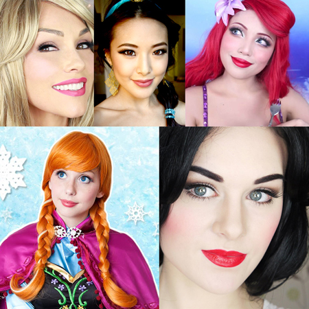 Popular Disney Princess Makeup Tutorials