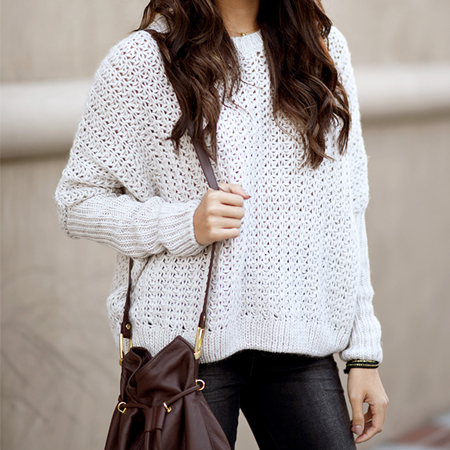 Hapatime styling an oversized sweater